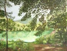 peinture du Doubs dans le Jura