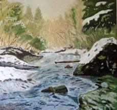 peinture de l'Orbe, une rivière vaudoise