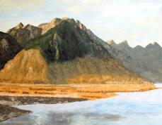 peinture du Léman et du Bouveret