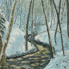 peitnure du Nozon sous la neige