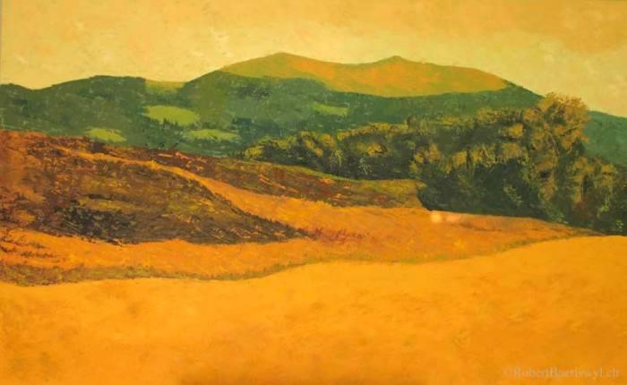 Peinture du Suchet et de la campgane orangée