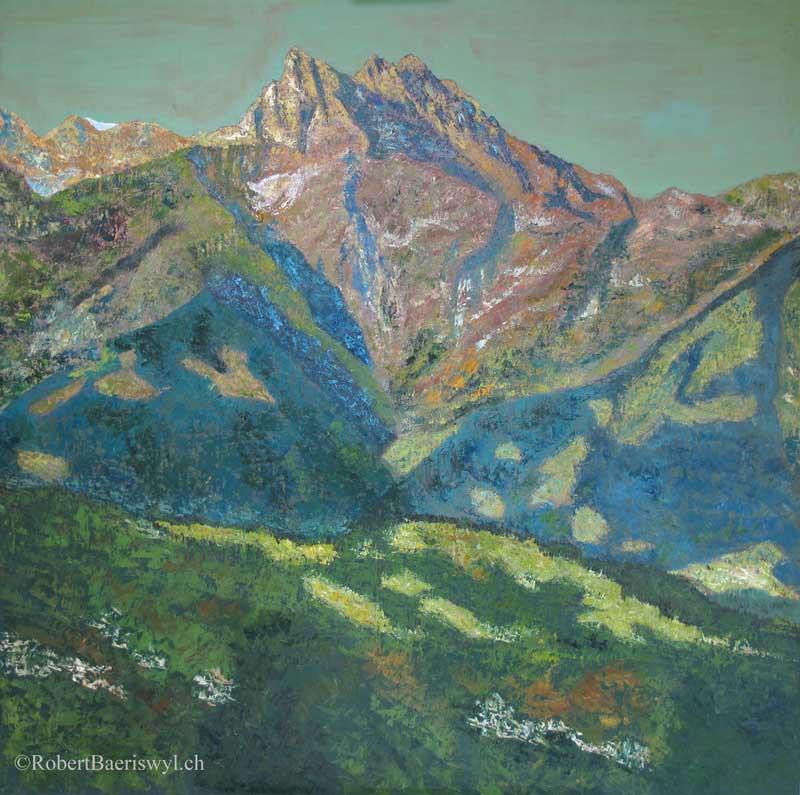 peinture de la cime de l'est des Dents-du-midi